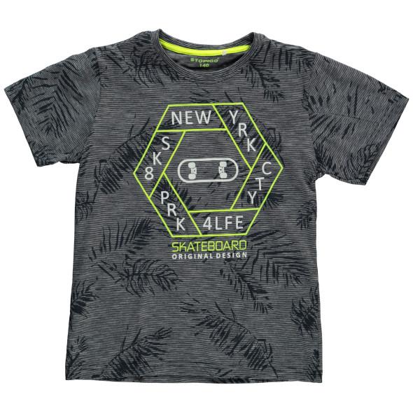 Jungen Shirt mit Allover Print