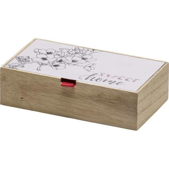 Holzbox mit dekorativem Print 18x10x5cm