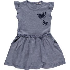 Mädchen Kleid mit Glitzerdruck
