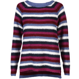 Damen Pullover in Streifen Optik