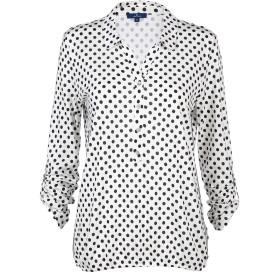 Damen Blusenshirt mit Polka-Dots