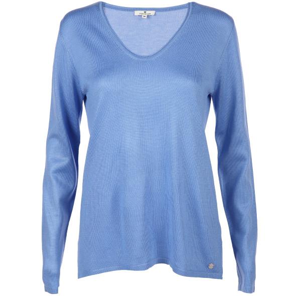 Damen Pullover in Feinstrick mit V-Ausschnitt