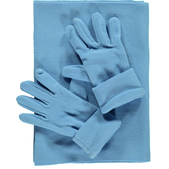 Damen Fleece Set, 3tlg.best. aus Schal und Handschuhe