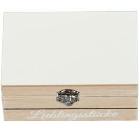 Deko Box mit Metallverschluss und Print 12x8x5,5cm