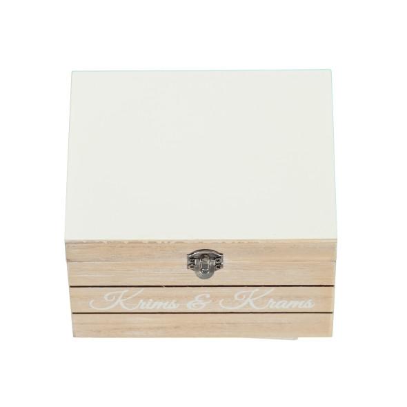Deko Box mit Metallverschluss und Print 12,5x15x9cm