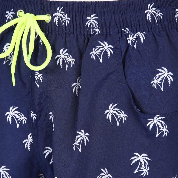 Herren Badeshorts mit Palmenprint