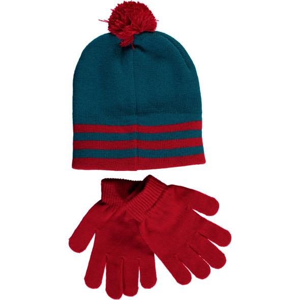 Jungen Set bestehend aus Handschuhen und Mütze