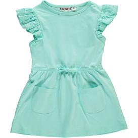 Mädchen Kleid mit Lockstickerei