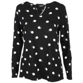 Damen Shirt mit Punkte Print und Glitzer Effekt