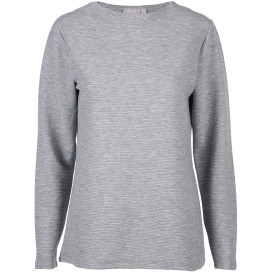 Damen Sweatshirt in Ripp Optik mit Glitzereffekt