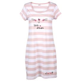 Damen Nachthemd mit kurzen Ärmeln