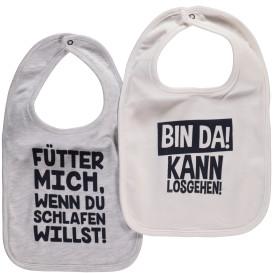 Baby Sprüche Lätzchen im 2er Pack