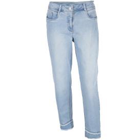 Damen Jeans im 5-Pocket-Stil mit Fransen