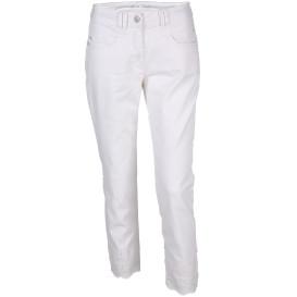 Damen 7/8 Jeans mit Lochstickerei