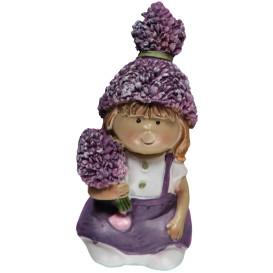 Deko Lavendel-Kind aus Polyresin, 10cm