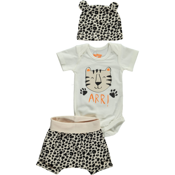 Baby 3er Set mit Animalprint