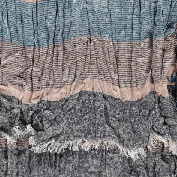 Herren Schal im Knitterlook