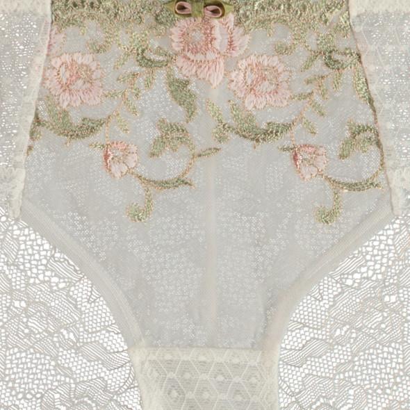 Damen Slip mit floraler Spitze