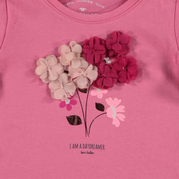Mädchen Longsleeve mit Blumenprint