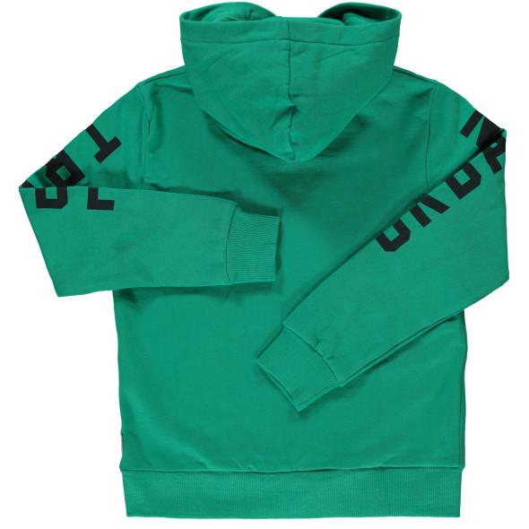 Kinder Sweatshirt mit Kapuze und Schriftprint