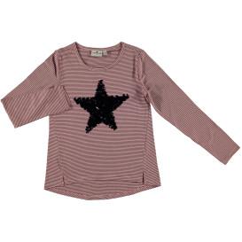 Mädchen Ringelshirt mit Sternenprint