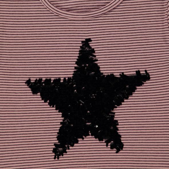 Mädchen Ringelshirt mit Sterneprint