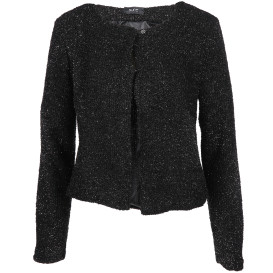 Damen Cardigan mit Glitzer Optik