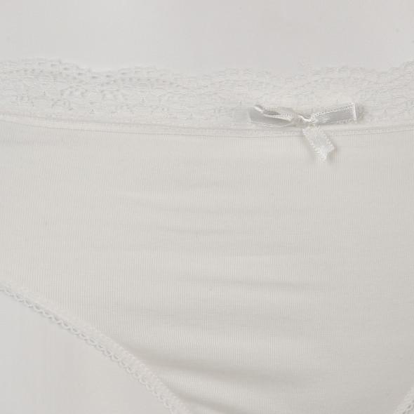 Damen Bikinislip mit Spitze im 2er Pack