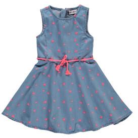 Mädchen Kleid mit Stickerei verziert