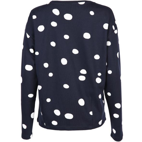 Damen Sweatshirt mit Punkte Print