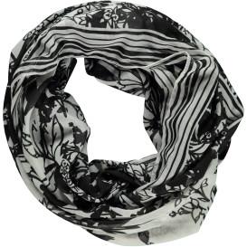 Damen Loop Schal mit floralem Print