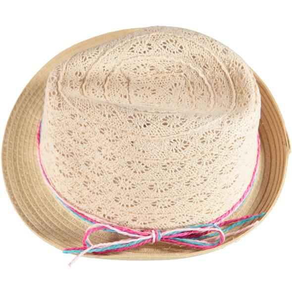Mädchen Strohhut mit bunten Bändern