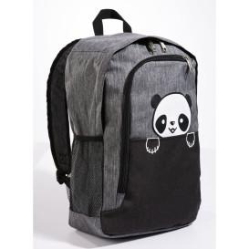 Rucksack mit Panda Motiv und USB-Anschluss