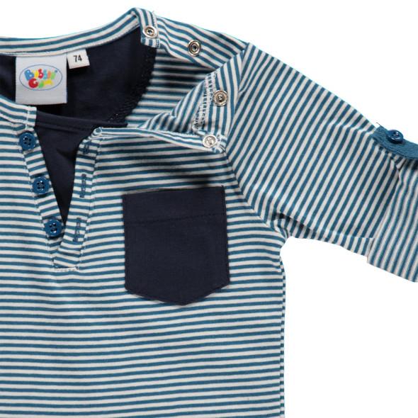 Baby Shirt im 2in1 Look mit Streifen