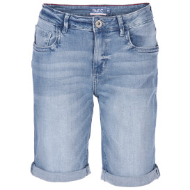 Damen Jeans Bermuda in heller Waschung