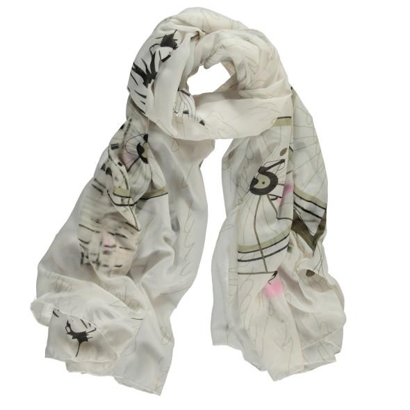 Damen Schal mit schönem Print