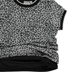 Mädchen Doppellagen T-Shirt im Animalprint