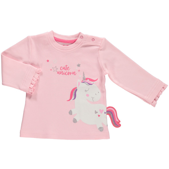 Baby Mädchen Langarmshirt mit Einhorn
