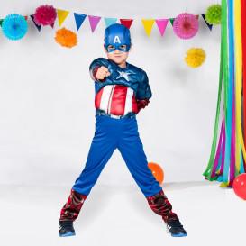 Jungen Captain America Kostüm Set