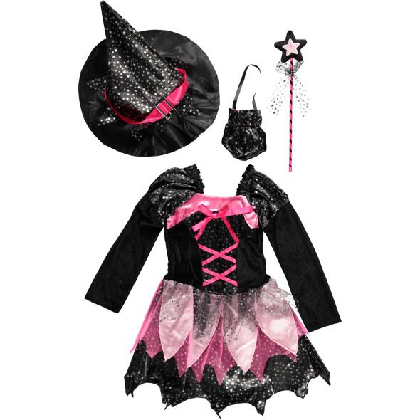 Mädchen Hexen Kostüm Set