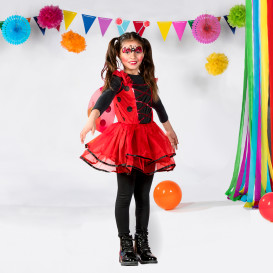 Mädchen Marienkäfer Kostüm Set