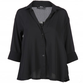 Damen Bluse oversize in Kurzform