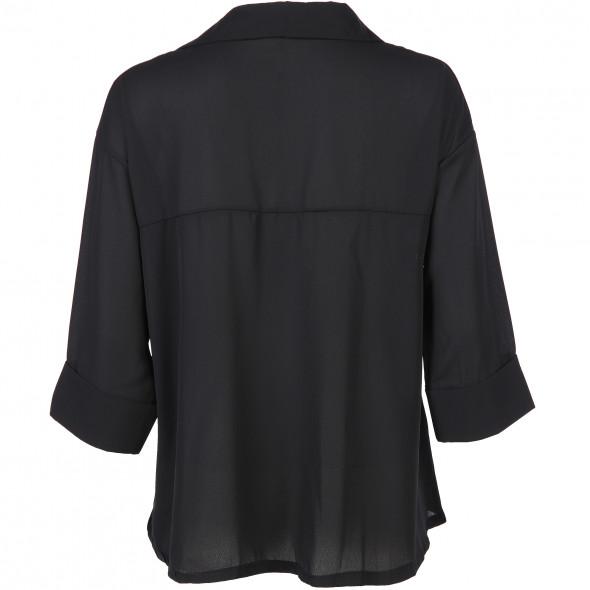 Damen Bluse oversize in Kurzform