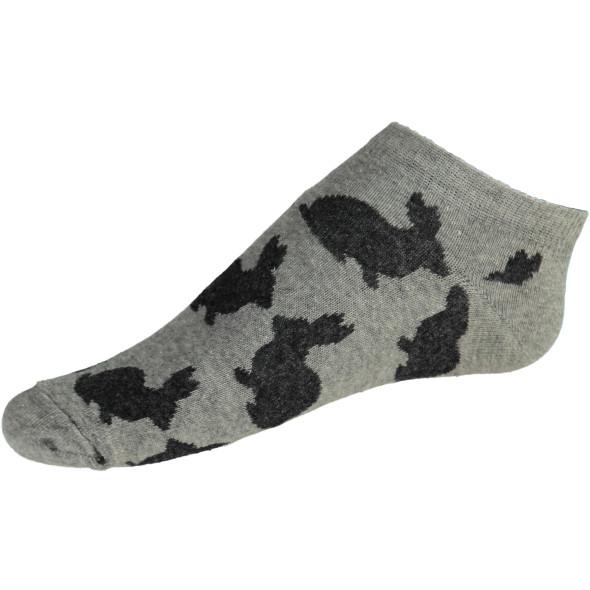 Damen Sneaker Socken mit Hasenmotiv im 3er Pack