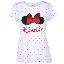Damen Shirt mit Minnie Mouse Print