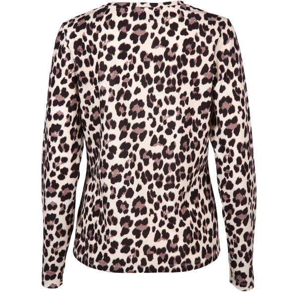 Damen Sweat im Leo Look mit Print