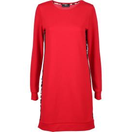 Damen Kleid langarm mit seitlichem Einsatz
