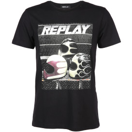 Herren Replay Shirt mit Frontprint
