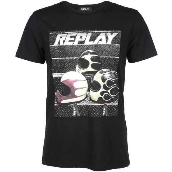 Herren Replay Shirt mit Frontprint