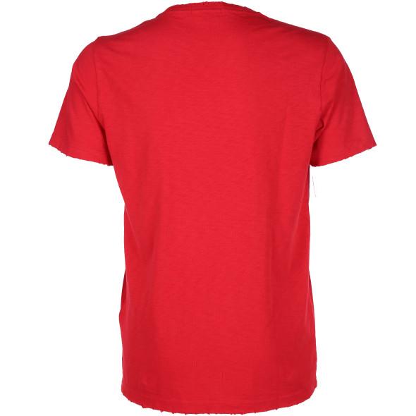 Herren Replay Shirt mit Frontprint und Abnutzungsdetails